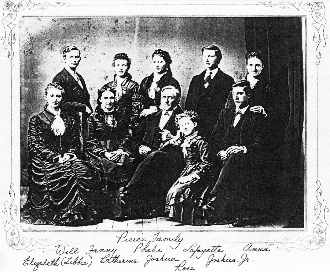 Joshua Pierce family portrait, Racine, Wisconsin