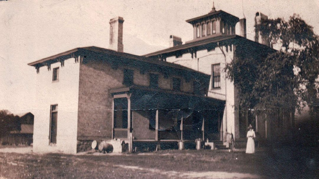 Joshua Pierce home, back view, Racine, Wisconsin