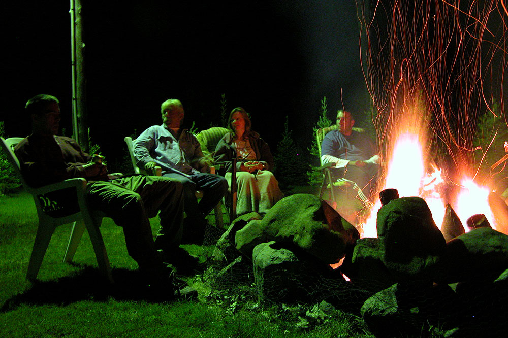 Campfire party, northern Wisconsin