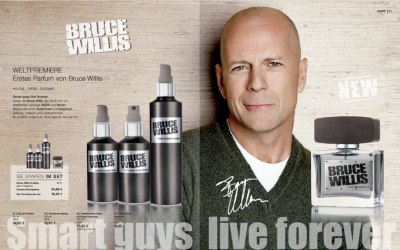 Bruce Willis fragrance: Perfume, hair & body wash for smart guys