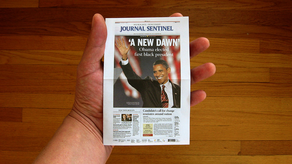 Print media getting smaller and smaller