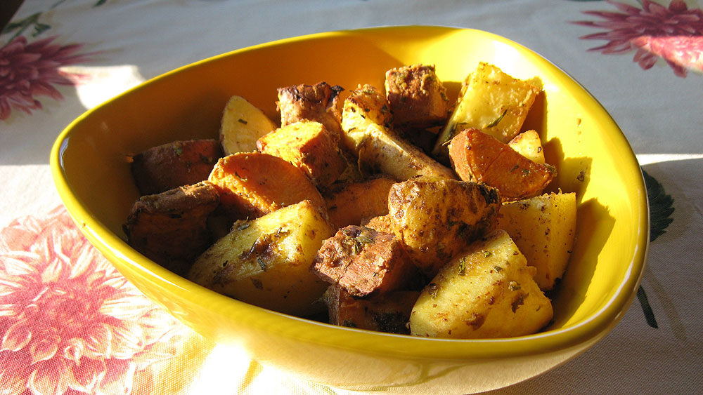 Recipe: Roasted Potatoes with Mustard and Rosemary