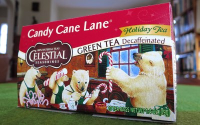 How to sleep: Candy Cane Lane tea by Celestial Seasonings