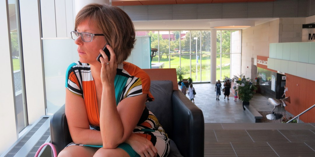 Breast cancer patient Amy Czerniec at Froedtert Cancer Center, Milwaukee, 8/27/2013