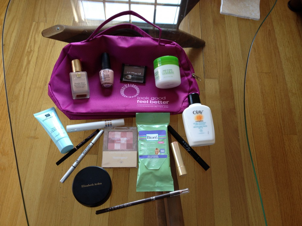 Cosmetics products from the American Cancer Society's Look Good Feel Better workshop