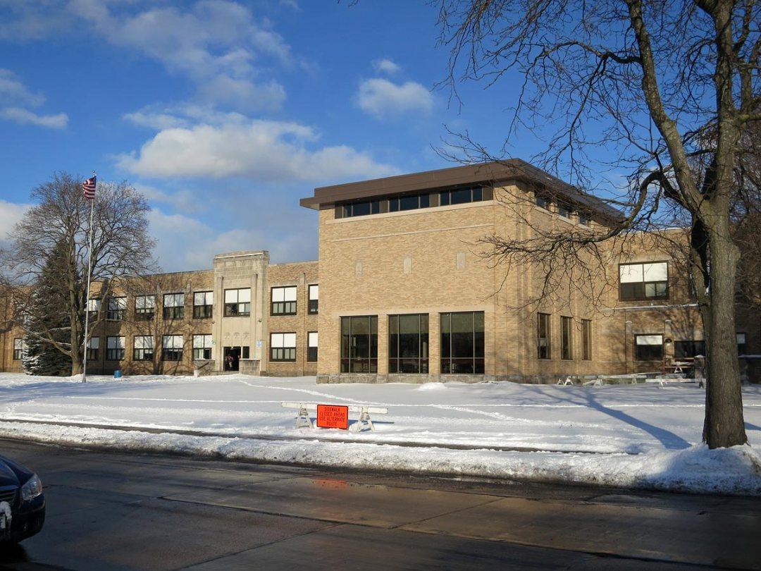Mitchell School, Racine, Wisconsin: 1 year after fire