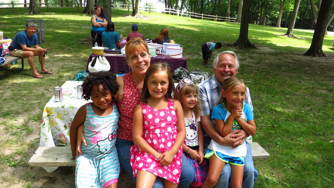 Birthday party at Regner Park in West Bend, Wisconsin
