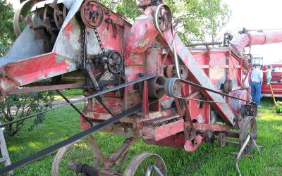 Antique Belle City threshing machine, Wisconsin