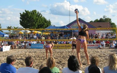 Women's beach volleyball, North Beach, Racine, Wisconsin