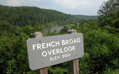 French Broad Overlook on Blue Ridge Parkway