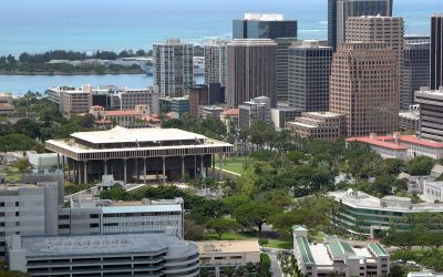 Hawaii State Capitol building, downtown Honolulu