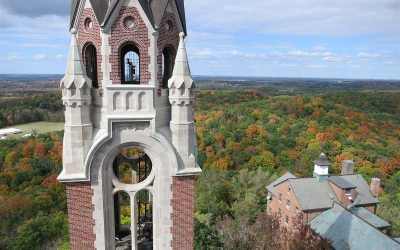 Holy Hill Scenic Tower: Fall colors, Hubertus, Wisconsin