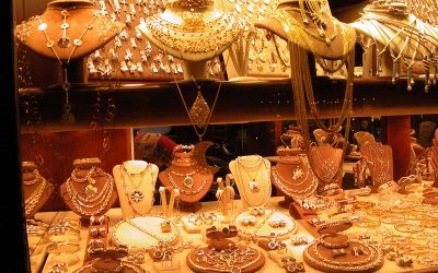 Italian gold jewelry, Florence, Italy