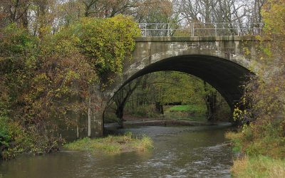 Kenosha County Bike Trail over Pike River in Wisconsin