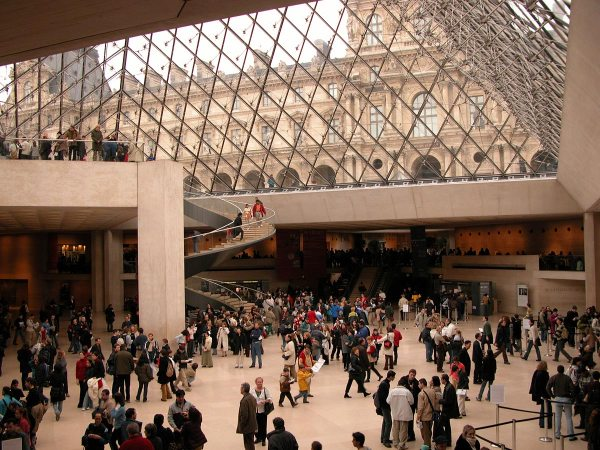 Inside Louvre Museum Pyramid