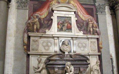 Michelangelo's tomb, Basilica of Santa Croce, Florence