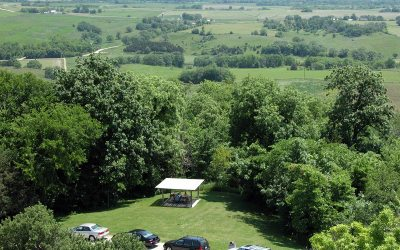 Observation tower view, near Galena, Illinois