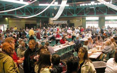 Pancake Day, Festival Hall, Racine, Wisconsin