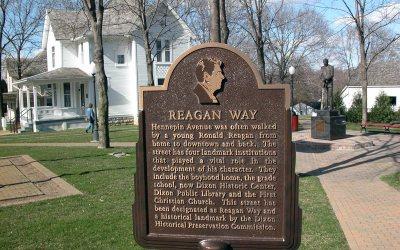 Reagan Way sign, Ronald Reagan Boyhood Home, Dixon