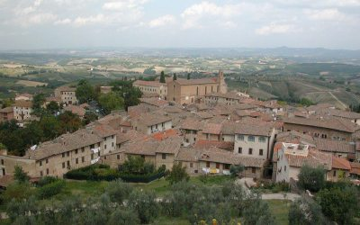 Tuscany: View from San Gimignano's Rocca di Montestaffoli castle