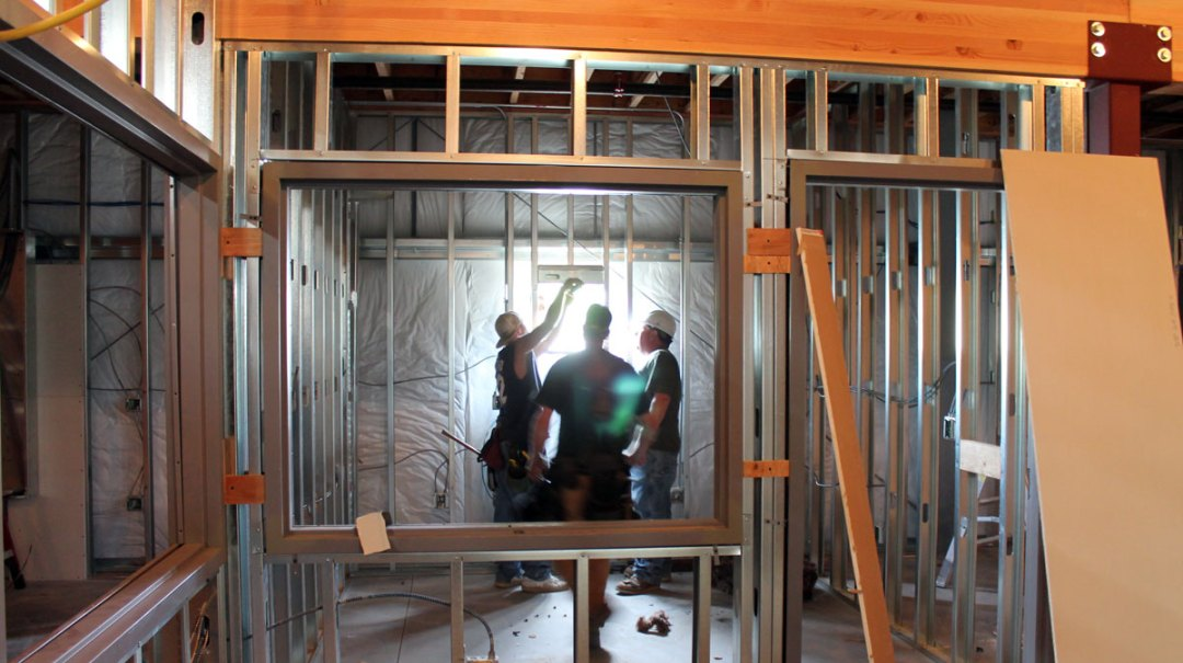 building contractors at work