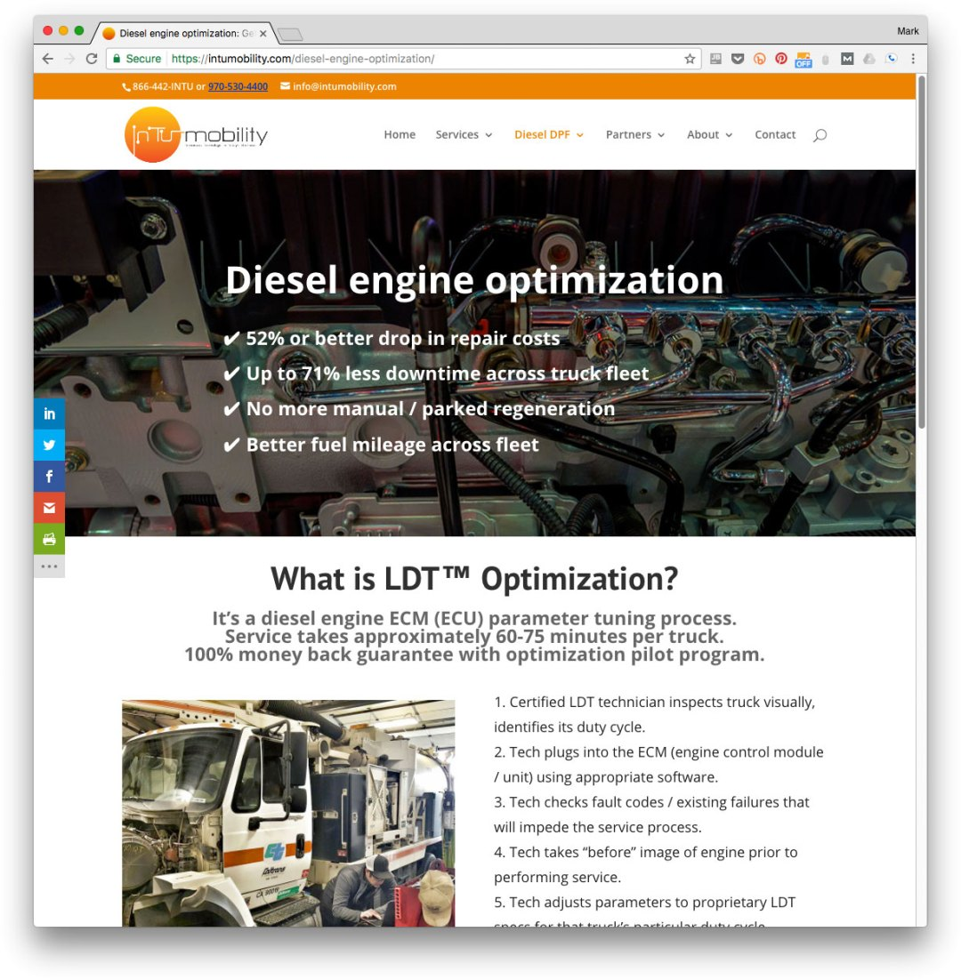 diesel engine optimization