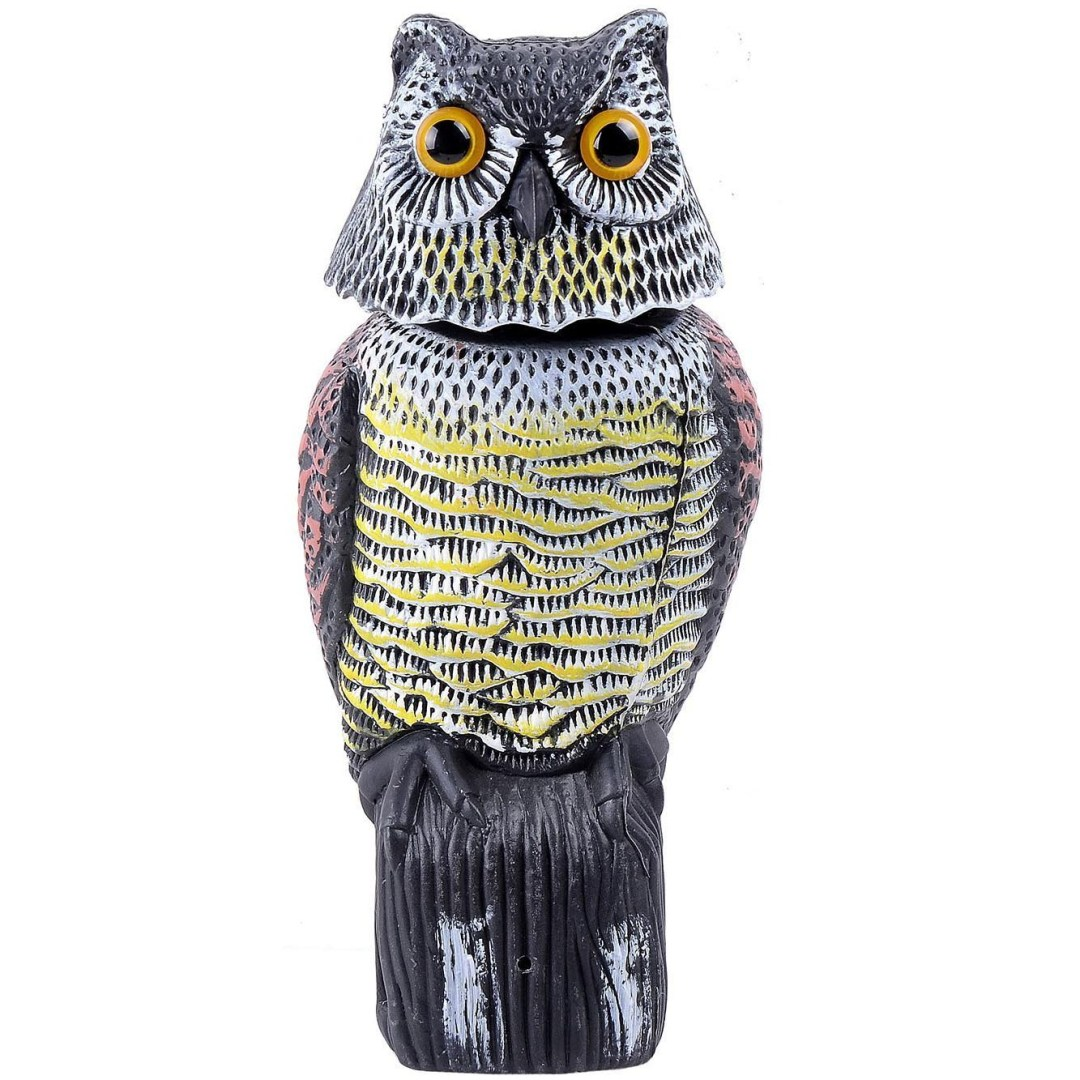 owl scarecrow rotating head