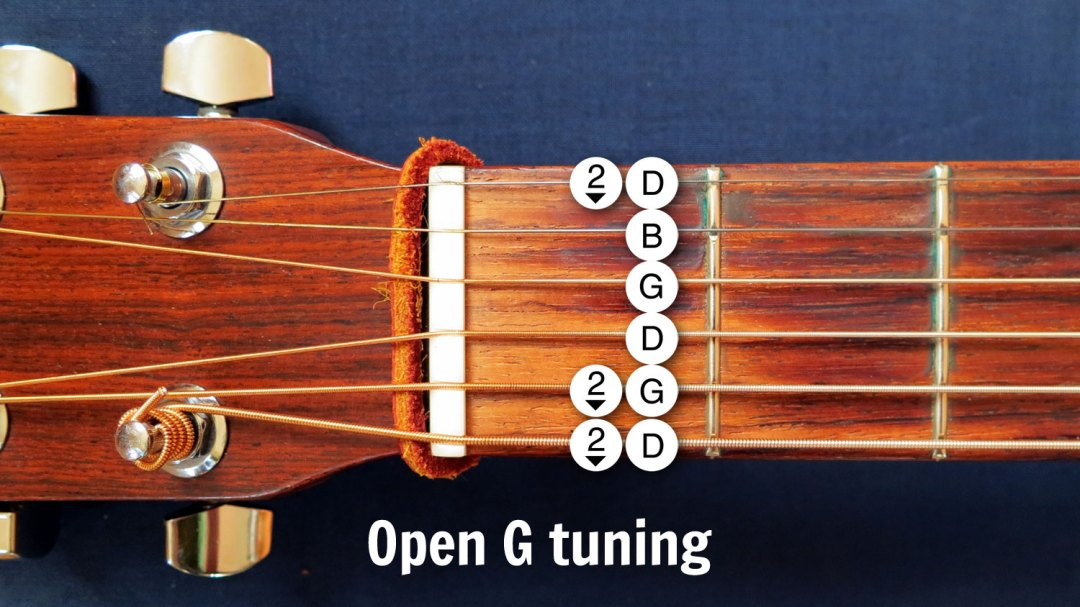 Open G guitar tuning