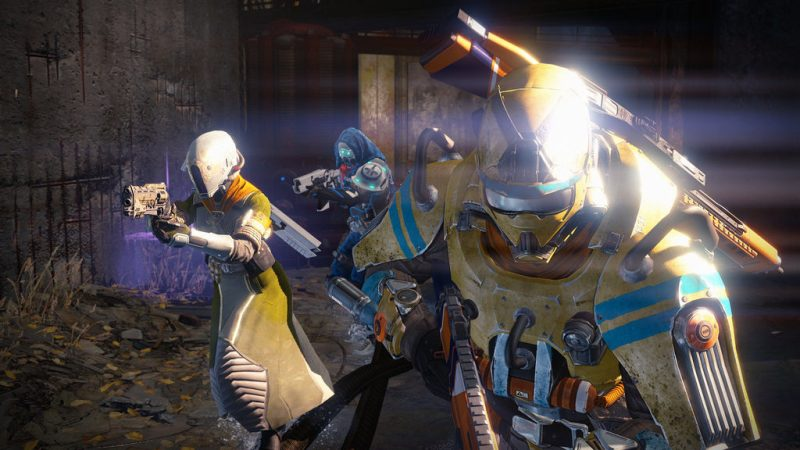 Art of the three different destiny classes, Hunter, Titan & Warlock.  Many of the Destiny missions can be done with 3 people whereas the raid is the only 6 player cooperative mission.