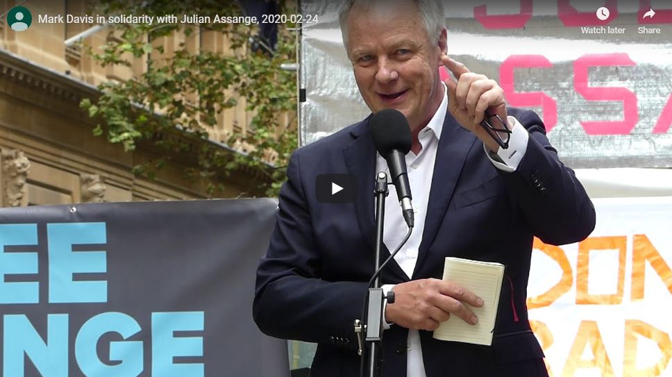 Mark Davis speech at Sydney Assange rally