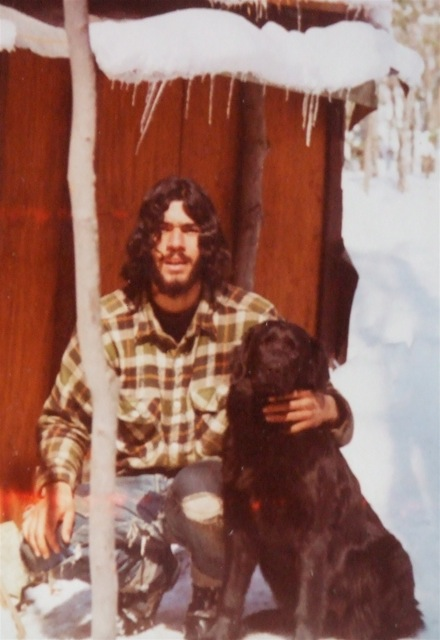 "The author in Sugar Hill, New Hampshire. Forty-nine years ago, living off-the-grid, unconcerned with ""current affairs"".."