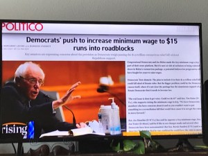 Senator Sanders says he's fighting for workers