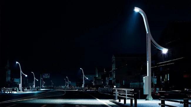 浪江町に設置したTHE REBORN LIGHT projectの街路灯