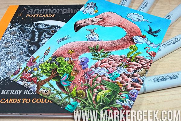 Colouring Animorphia Flamingo Using Copics - Marker Geek