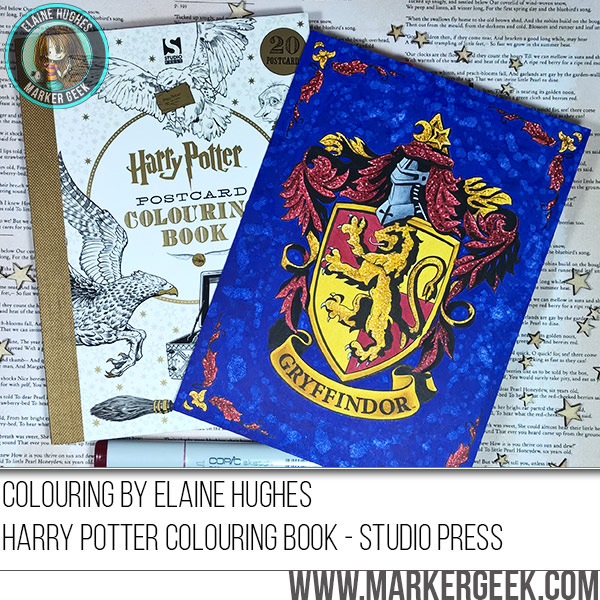 Copic Colouring Gryffindor Crest w/video - Marker Geek