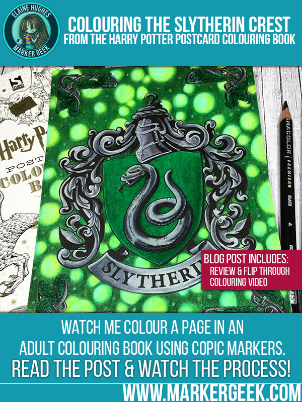 Harry Potter Colouring Book Colouring Slytherin S Crest W