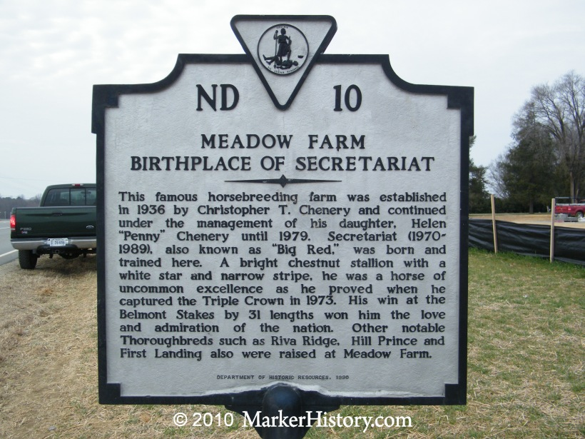 Meadow Farm  Birthplace Of Secretariat Nd10  Marker History