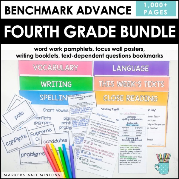 Benchmark Advance Fourth Grade Bundle