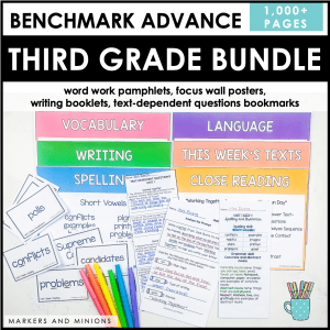benchmark advance third grade centers bundle