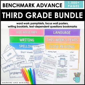 benchmark advance third grade centers bundle