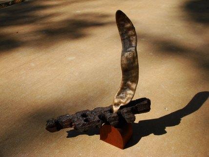 Bean - Hardwood, found wood, bronze