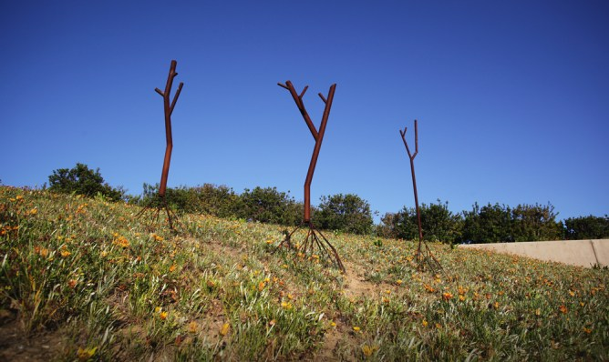 Three Steel Trees - Newport Beach Civic Center Park