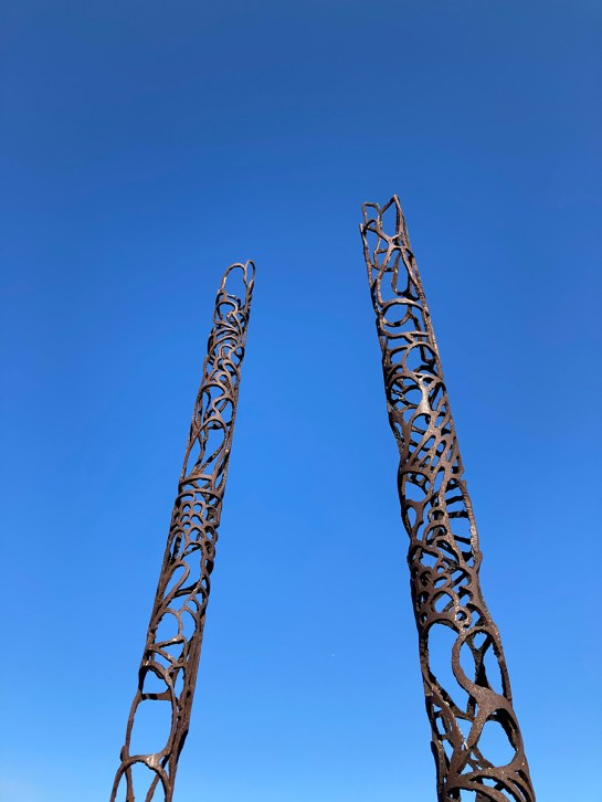 Iron Tie to the Blue Sky, Carlsbad Sculpture Garden