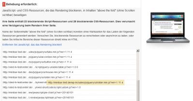 WP Multisite und Lazy Load bei Minibar-Test.de