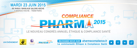 Pharma Compliance Digital CRM Marketing Transparence DMOS New PharmaCompliance2015 480x170 Grève le 9 avril : PharmaCompliance Paris reporté au Mardi 23 Juin 2015   Save the new date !
