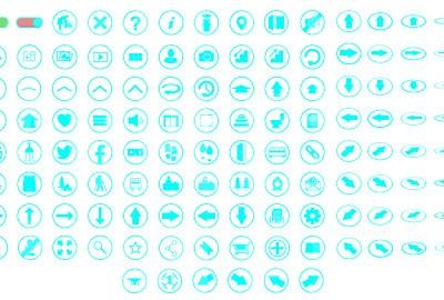 MacNimation Light Blue On White Set Only Full