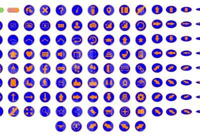 MacNimation Orange on Blue Set Only Full
