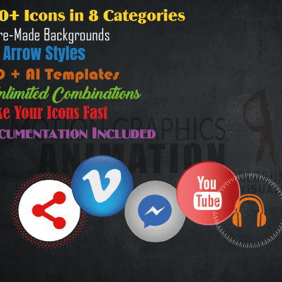 Icon Creation Template - Unlimited Options