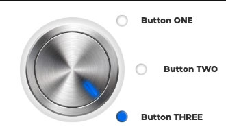 3D rotary knob (blue)