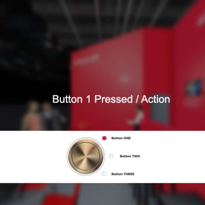 3D rotary knob gold (red)